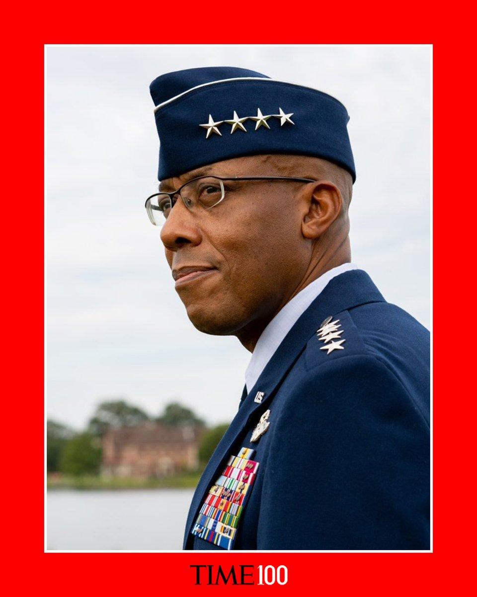 Congrats @GenCQBrownJr on making @TIME's Top 100 most influential people list! You are a spectacular Airman & I'm proud to serve by your side as a fellow Chief and friend. https://t.co/KNxzdsKT9u