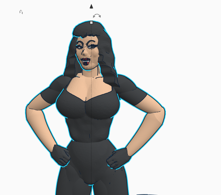 #3dprinting ,#3dmodeling ,#PopCulture,#MartialArts,#Burlesque,#TuraSatana, ,#TinkerTogether,#Tinkercad,#Autodesk,#MeshMixer,#SciFi,#ScienceFiction,#FasterPussycat,#RussMeyer-A warm Tinkercad welcome to.....Varla...from Faster Pussycat, Kill, Kill... https://t.co/1tsyzpf4Kc