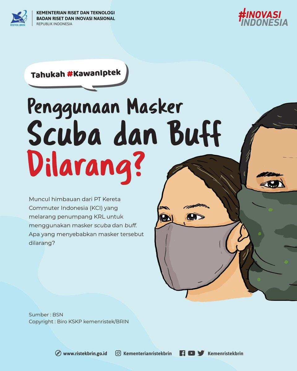 Baru-baru ini muncul himbauan dari PT Kereta Commuter Indonesia (KCI) yang melarang penumpang KRL untuk menggunakan masker scuba dan buff. #StandarMaskerKain #MaskerKain https://t.co/CH7Gr9nVzq