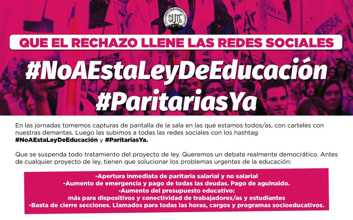 #NoAEstaLeyDeEducacion #No  a la flexibilización de la tarea docente. #NoEsNo @josemthomas  @trottanico https://t.co/svvF6o29ZM