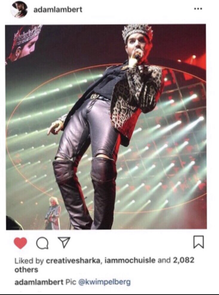 I'll always have Vegas! He's since deleted if from his IG account but the fact he did post my pic shortly after the last show, Sept 22, 2018 of #Queen + #AdamLambert's Las Vegas Residency was a high point of my being a fan of his since 2009! 💯🥰❣️ https://t.co/DvYEtuT5FG