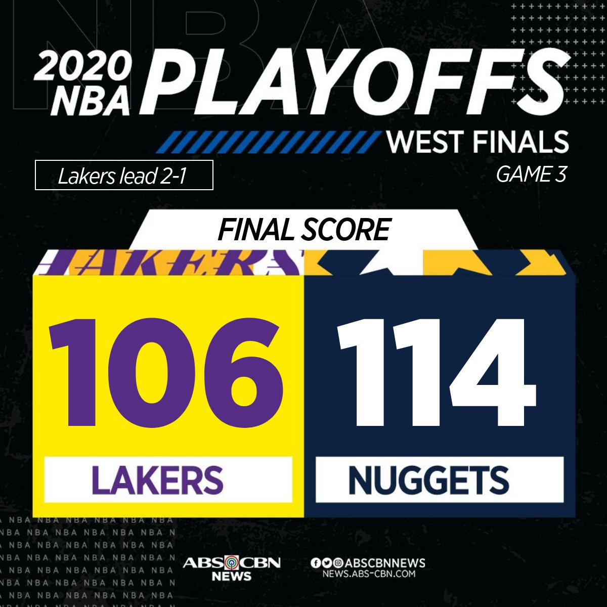 Denver Nuggets survive fourth-quarter rally of Los Angeles Lakers to take Game 3 of the Western Conference Finals