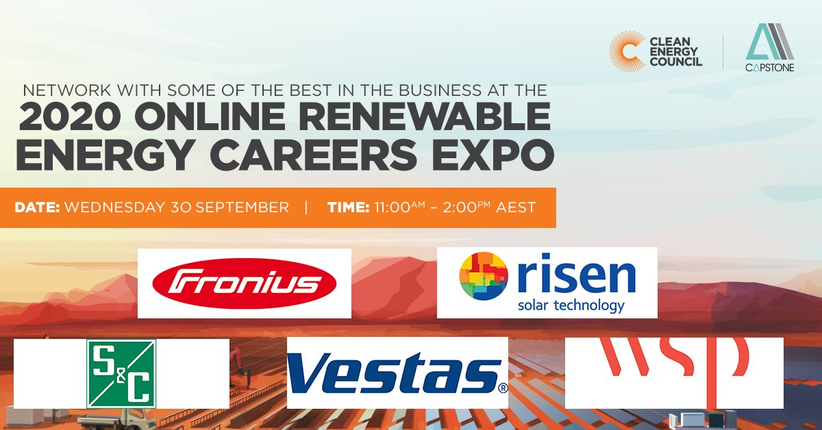 Calling all uni students studying #renewable energy related courses – there's now less than one week to go until the 2020 Online Renewable Energy Careers Expo!  Register for free below and get ready to network with some of the best in the business 👇  🎟️: https://t.co/T3rgVaspRv https://t.co/h2dYchWK75