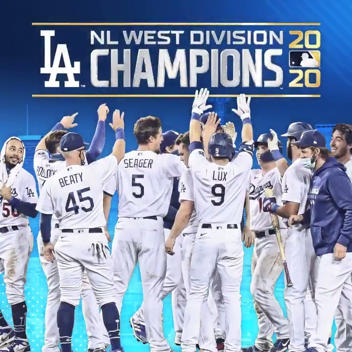 NL WEST CHAMPS. The #Dodgers win their eighth consecutive NL West title!