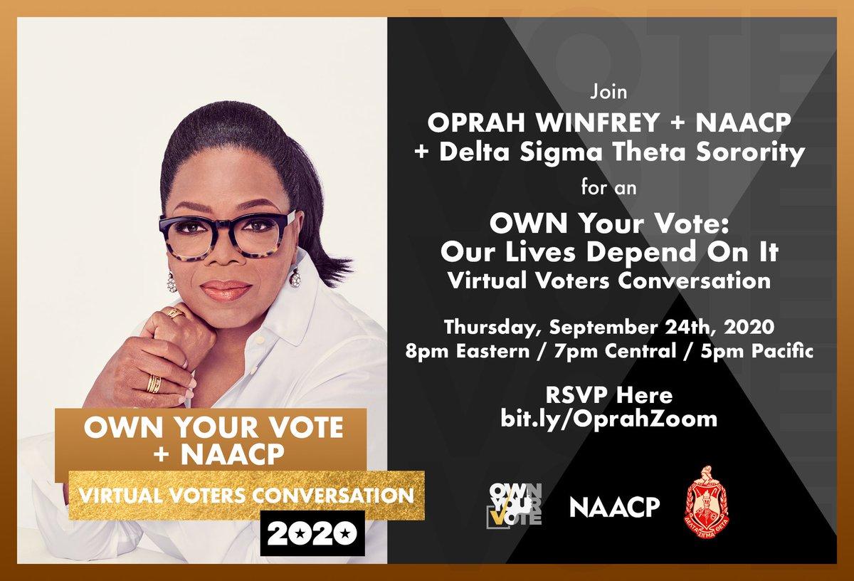 #Sept24 #PowerInOurVoice #Oprah #NAACP #DST1913 #DeltasVote #OWNYourVote #NC #Vote #SACSocialAction #SalisburyDeltas https://t.co/BxBti4KyUd
