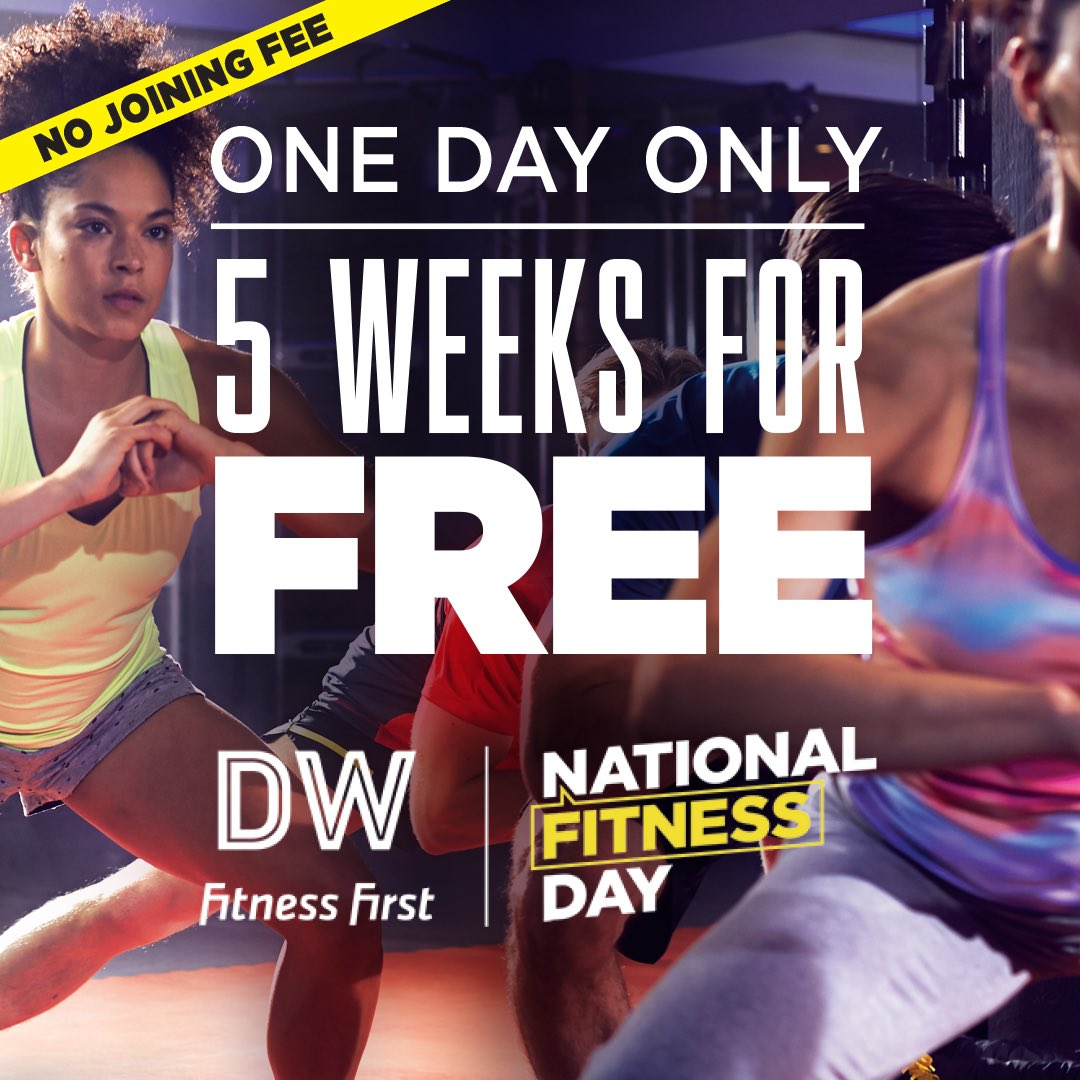 ONE DAY ONLY – 5 Weeks FREE and NO joining fee! https://t.co/Zru33CUeUq  #free #trysomethingnew #fitnessweek #5weeksfree #fitnessday https://t.co/KYNZmW6T41