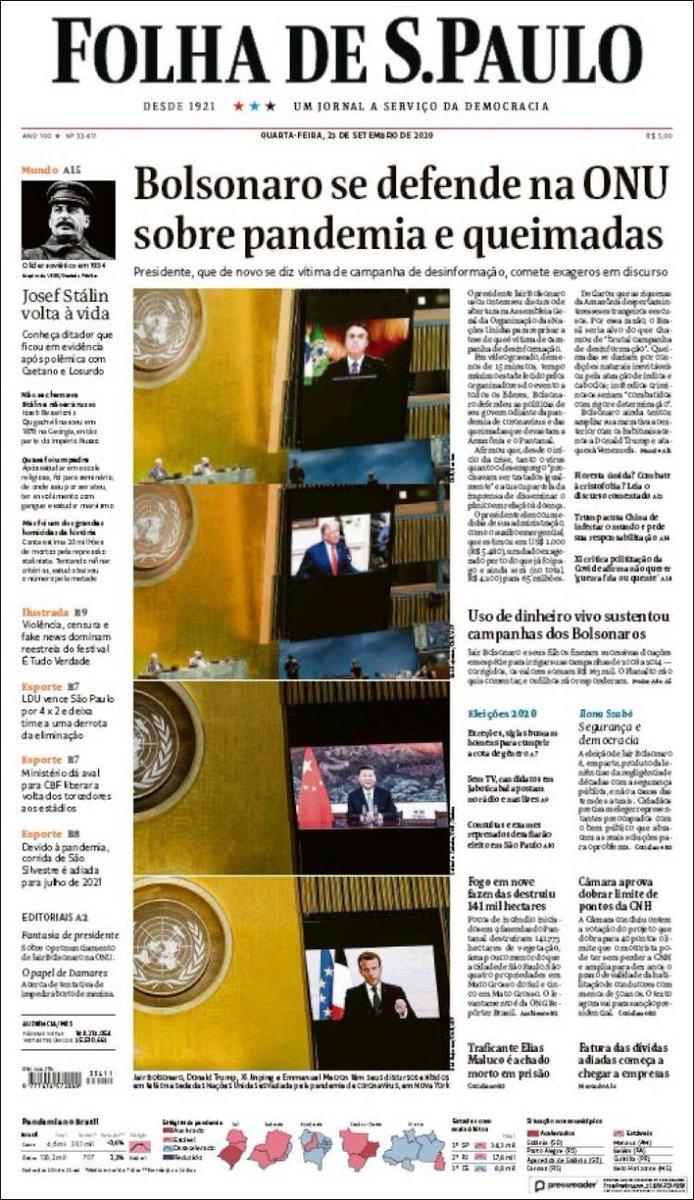 FOLHA DE SAO PAULO https://t.co/r8OGh9N1Wp #r2p #FolhadeSãoPaulo #Brazil #US #UE #Macron #Trump #Bovespa #Bolsonaro #SaoPaulo #RioDeJaneiro #TAM #Coronavirus #Covid19 #Football #Maracana #Globo #BancoDoBrasil #Petrobras #Unibanco #Varig #Lebanon #Beirut #Neymar #PSG #Bayern https://t.co/I6Y8BiGEiH