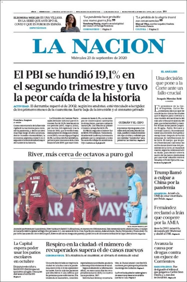LA NACION  https://t.co/8eIpRiBQXr #r2p #LaNacion #Argentina #FMI #BuenosAires #Aerolineas #Covid19 #Coronavirus #US #Trump #Biden #Telefonica #AlbertoFernández #YPFB #Football #Kirchner #CarolinaPiparo #Futbol #Beirut #Lebanon #Beyrouth #Neymar #Messi #USOpen #Djokovic https://t.co/y2STn14q88