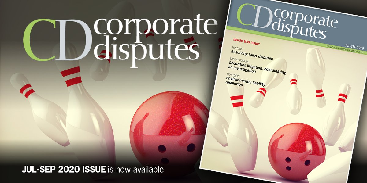 In our Jul-Sep issue we examine the commercial implications of the #COVID-19 pandemic, #reputational risks in #litigation, product liability, the #IoT, #ODR, #dispute resolution, investment treaty arbitration and so much more. Read it for free here: https://t.co/BrvJnQZuKS https://t.co/Fs83OybhMZ