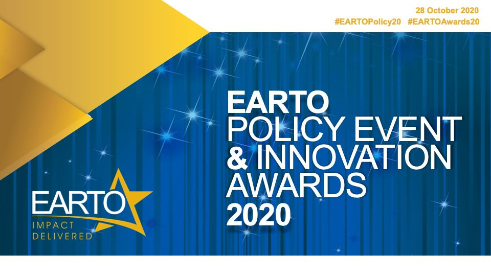 Join #EARTOpolicy20 & #EARTOAwards20 online on October 28!  🎦 Broadcasted live 💡 Valuable keynotes ⭐️ Impactful #innovation awards  Free registration ➡️ https://t.co/9TWN0bo0V4 https://t.co/kDxTc63OXT