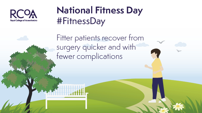 It's National #FitnessDay! Improving fitness ahead of surgery will help you recover faster & with fewer complications.   See our Fitter Better Sooner resources to find out more: https://t.co/6rnjWHdZ5U   @FitnessDayUK @CPOC_News @preopuk https://t.co/j1MdVhVmWL