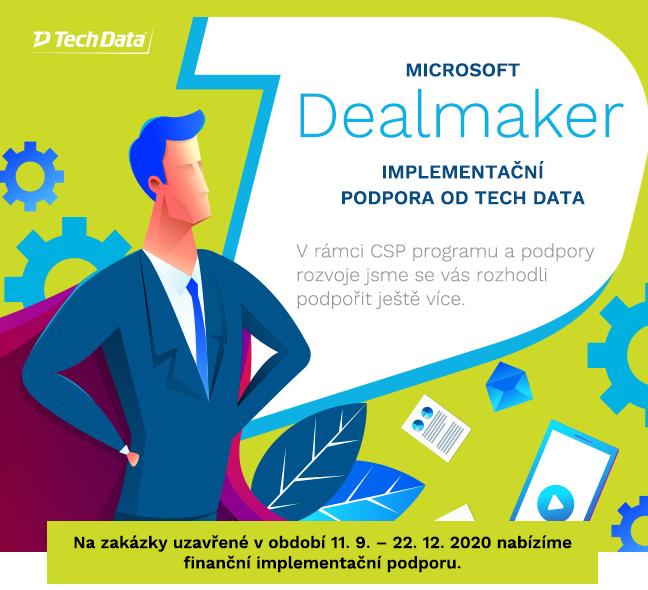 #Microsoft Dealmaker – implementační podpora od Tech Data! Při objednávce #Microsoft365 v licenčním modelu CSP můžete získat finanční příspěvek na implementační práce ve výši až 10% z celkové ceny licencí! Více informací naleznete zde: https://t.co/aAADaUAexm https://t.co/XtpgzNNpG9