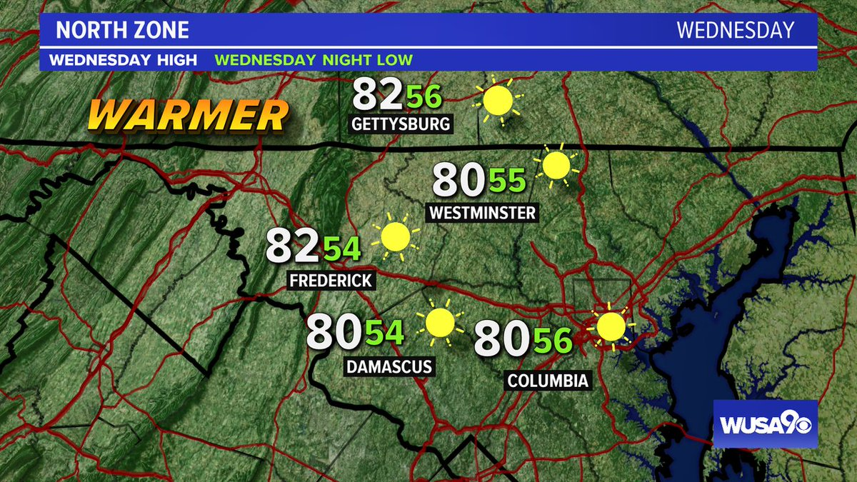 Here is your zone forecast. Just gorgeous today. @Fred_MD_Police @HCPDNews @wusa9  @HBWX @miriweather @chesterlampkin #WFH #wusa9weather #weather #DC #dcwx #vawx #mdwx #GetUpDC https://t.co/22dBSKhDf4 https://t.co/Occfd7GuP3