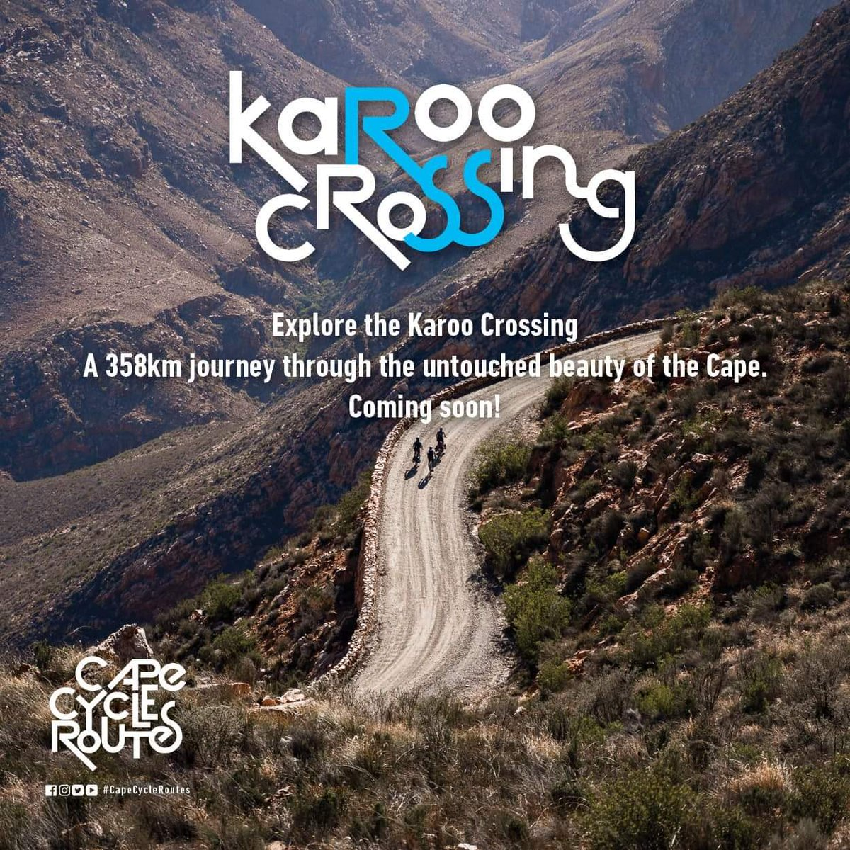 Today we celebrate The #KarooCrossing route in Prince Albert which is the new addition to the Cape Cycle Routes Network...  This 358km journey will take you through some of the most historic and beautiful parts of the Cape.   #CapeCycleRoutes #WeAreOpen #SAisTravelReady https://t.co/6bzt7CUC6z