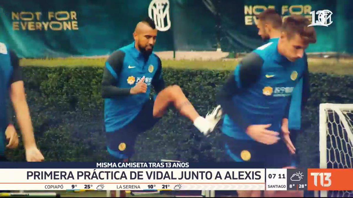 Primera práctica de Vidal junto a Alexis. Revisamos las noticias deportivas  EN VIVO por #T13AM  📺 » https://t.co/xu6puQRBZb https://t.co/Jzrmb7eWxK