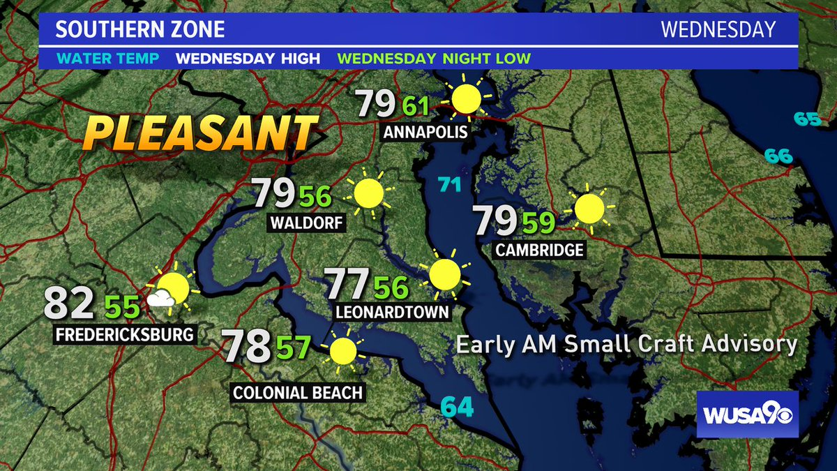 Here is your zone forecast. A gorgeous day. A bit breezy on the Water early in the morning. @SOMDWXNews @CharlesCoMD @SpotsySchools @wusa9 @HBWX @miriweather @chesterlampkin #WFH #wusa9weather #weather #DC #dcwx #vawx #mdwx #GetUpDC  https://t.co/22dBSKhDf4 https://t.co/wS3WZJKRzn