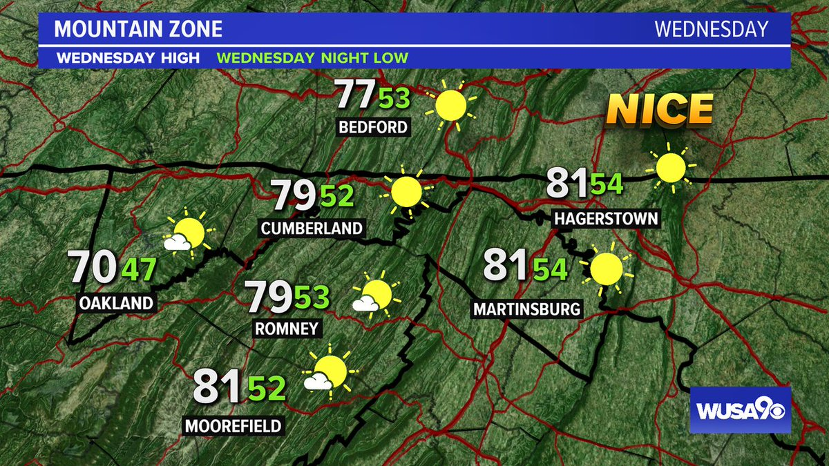 Here is your zone forecast. A gorgeous, first full day of fall. @HagerstownPD @theJournalWV  @wusa9  @WISPResort @greatdaywash @HBWX @miriweather @chesterlampkin #WFH #wusa9weather #weather #DC #dcwx #vawx #mdwx #GetUpDC  https://t.co/22dBSKhDf4 https://t.co/C813hgDJu0