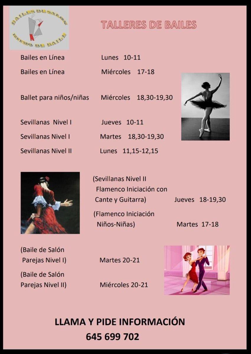 #Taller #baile #Móstoles  Os dejamos la info de nuestra #amiga y #querida Elena Hidalgo por si os interesa ✅Profesional como la copa de un pino https://t.co/Zk6SYDjFYy