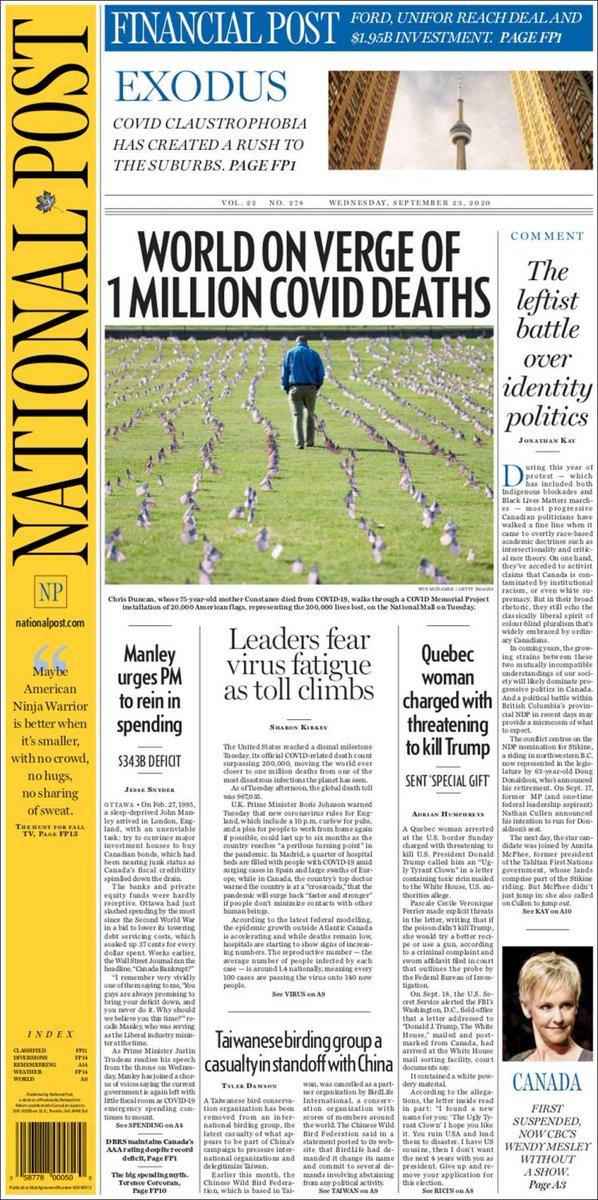 NATIONAL POST https://t.co/xRjlI0wsCk #r2p #NationalPost #Post #UE #Canada #Montreal #Ottawa #Toronto #Quebec #JustinTrudeau #EU #USA #Macron #Biden #Trump #TSX #Football #Coronavirus #Covid #Sports #Police #Epstein #PrinceAndrew #Lebanon #Beirut #Hockey #JacobBlake https://t.co/HwjZEEy8LO