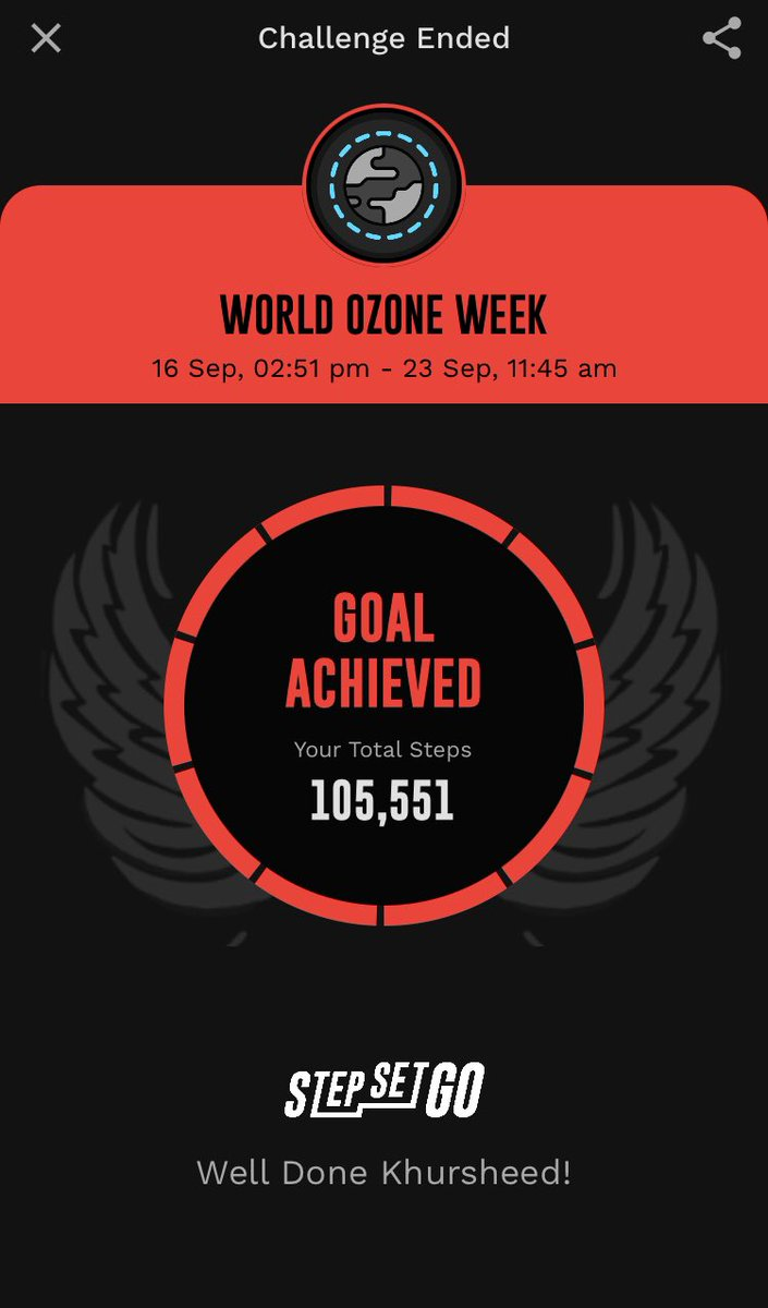 #worldozoneday #completed @StepSetGo   Did my part https://t.co/lGeMvQ7arb