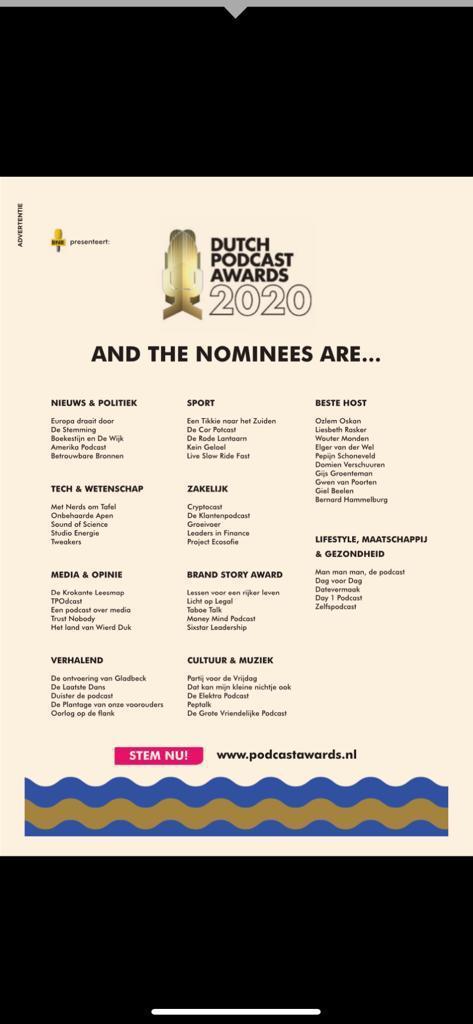 test Twitter Media - Beste lieve volgers, goed nieuws: we zijn genomineerd, dankzij jullie allemaal! Nu op naar de eindzege voor een ander geluid in medialand. Hier kunnen jullie nogmaals je stem uitbrengen want het Land van Wierd Duk is ook jouw land 🙂 RT is fijn!: https://t.co/v39ZtrSOLW https://t.co/RJlFwAG0As