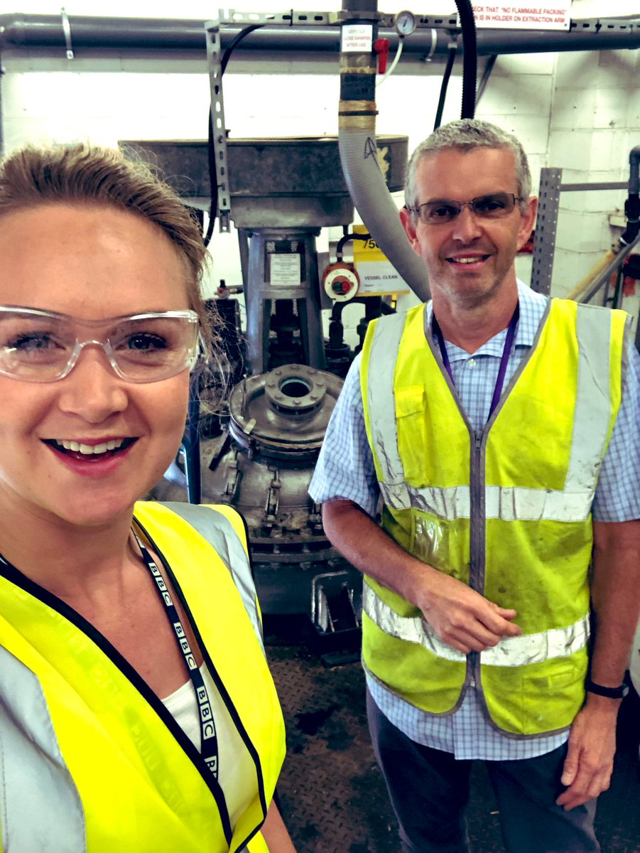 Behind the scenes of hand sanitiser production in #Pudsey🖐🏾🤙🏻👌🏿  @viclabs started making it a few months ago and Steve Foster showed me round!   @BBCLeeds / @RichardStead   (Note - the last bubbling chemistry set up picture isn't making hand sanitiser... but isn't it cool?!) https://t.co/90whMHiIoB