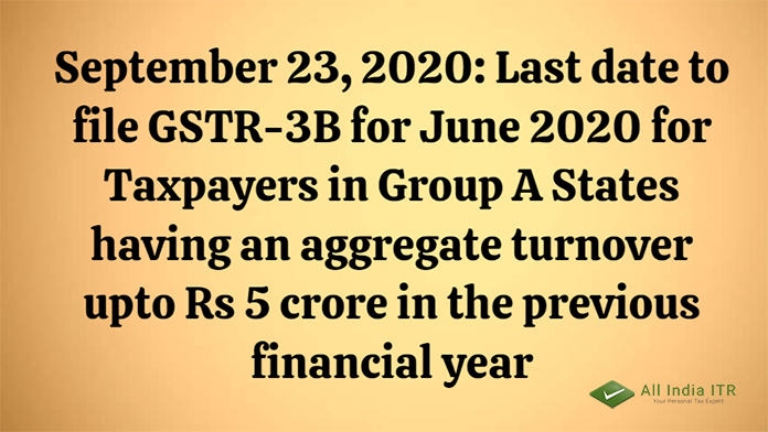#GSTR3B #taxpayers #September232020 #financialyear #June2020 https://t.co/iGXxdQa46Z
