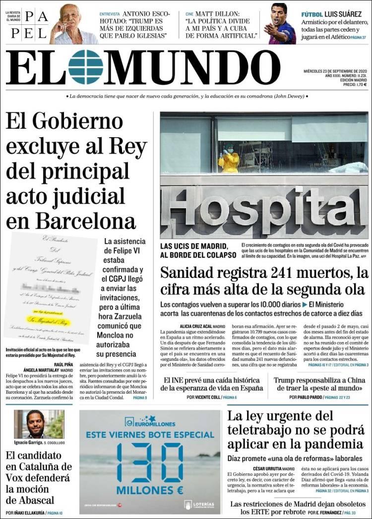 EL MUNDO https://t.co/krwyrb3PbZ #r2p #ElMundo #International #Spain #Espana #Espagne #UE #Europe #USA #Obama #Biden #Trump #Macron #Coronavirus #Covid19 #PedroSanchez #Ibex35 #Euro #Poutine #Podemos #FelipeVI #JuanCarlos #Beirut #Messi #CayetanaAlvarezdeToledo #IsabelDiazAyuso https://t.co/3ddfh3XxG3