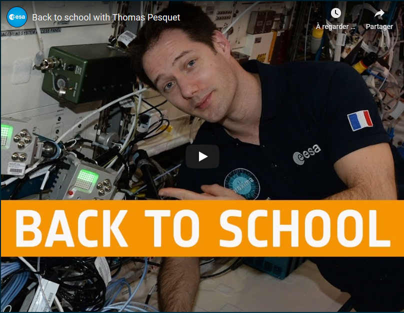 Back to school with Thomas Pesquet https://t.co/wCUxtfoPsc   Join Thomas in learning about Earth and space by participating in #ESA Education's 2020-21 school projects  __ @belspo https://t.co/Fm4Hs95zDH
