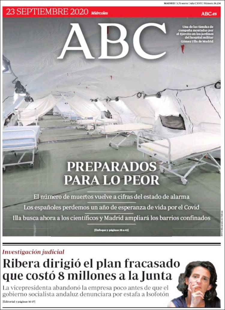 ABC  https://t.co/SYVydJGnpJ #r2p #ABC #UE #Europe #USA #Espana #PedroSanchez #Obama #Biden #Trump #Spain #Espagne #Coronavirus #Covid19 #NicolasMaduro #Ibex35 #FelipeVI #CorinnaLarsen #JuanCarlos #Lebanon #Beirut #Sofia #Podemos #KamalaHarris #Putin #Maduro #IsabelDiazAyuso https://t.co/EHdGEEBPkt