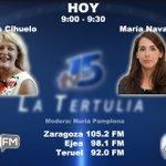 Image for the Tweet beginning: Hoy en La Tertulia de