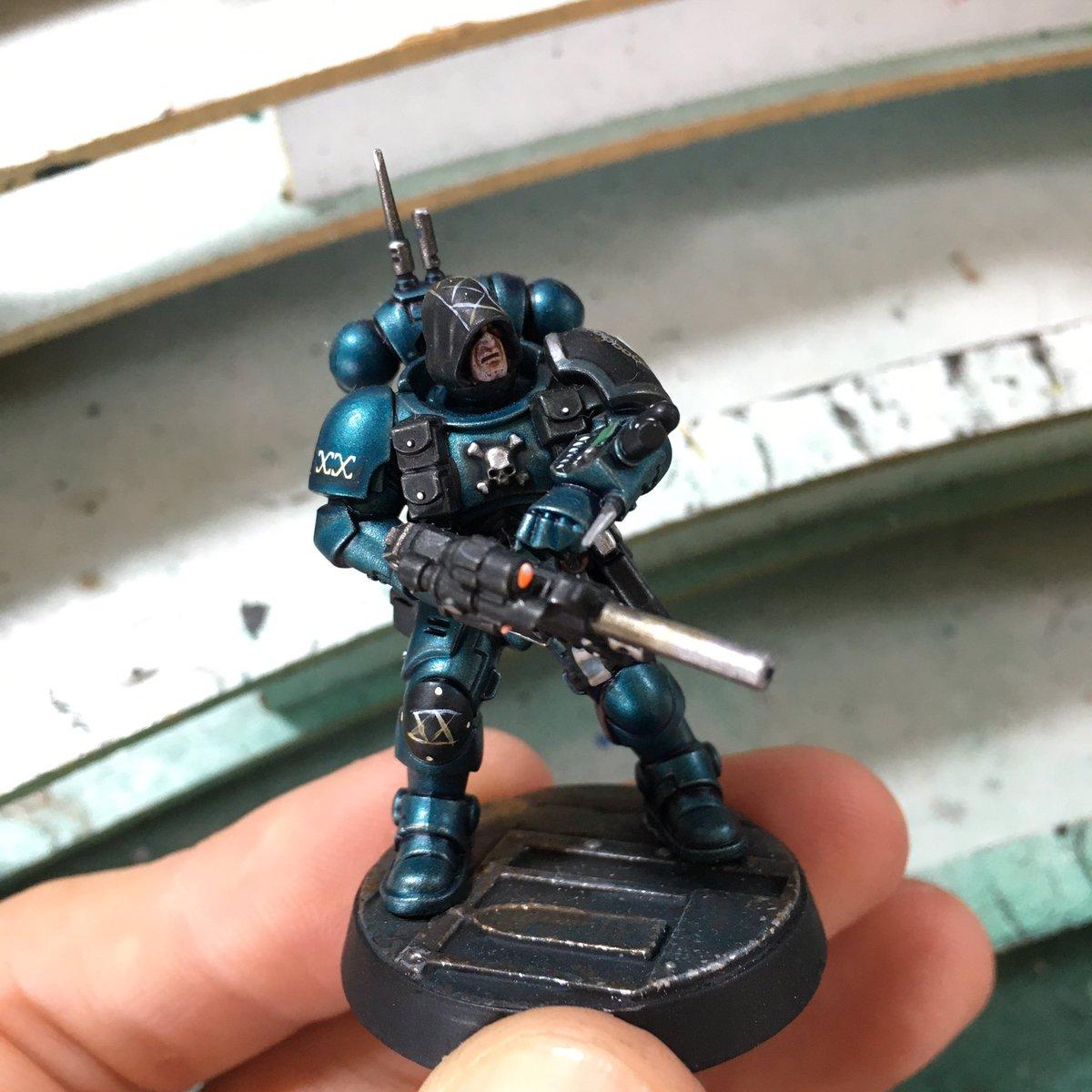 Alpha Legionnaire WIP III  #paintingwarhammer #gamesworkshop #warhammer40k #paintingblacklibrary #paintingwarhammer40k #warhammercomunity #paintingforgeworld #spacemarines #new40k #adeptusastartes https://t.co/22reoQGruX