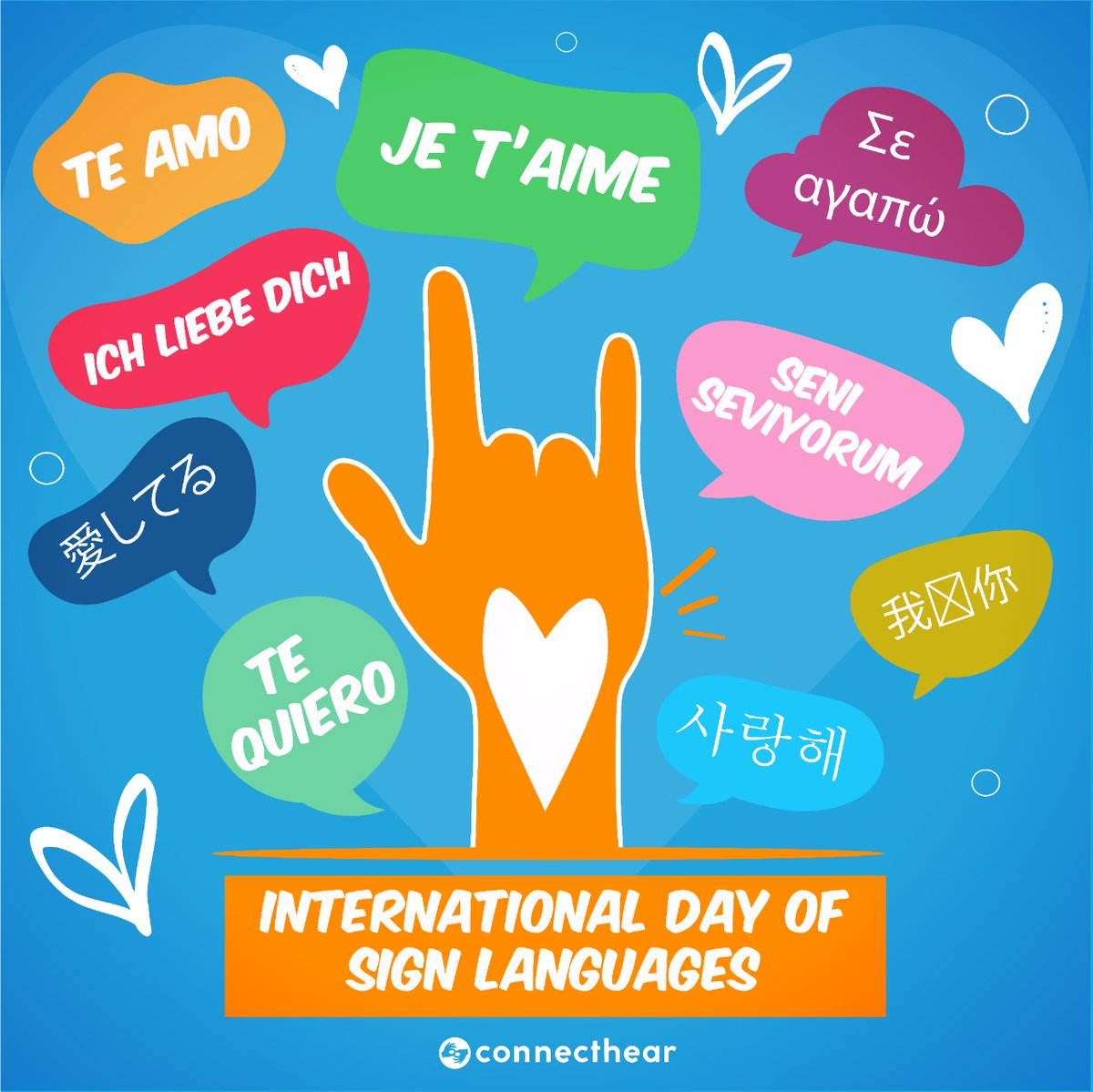 We are celebrating #IDSL2020 with Deaf communities across the world! 🤟🌎  This year's theme focuses on the Human Rights of Deaf People. We recognise sign language, promote deaf community and culture, encourage deaf inclusion and raise awareness for companies to support the deaf. https://t.co/iGyrDyrKwc
