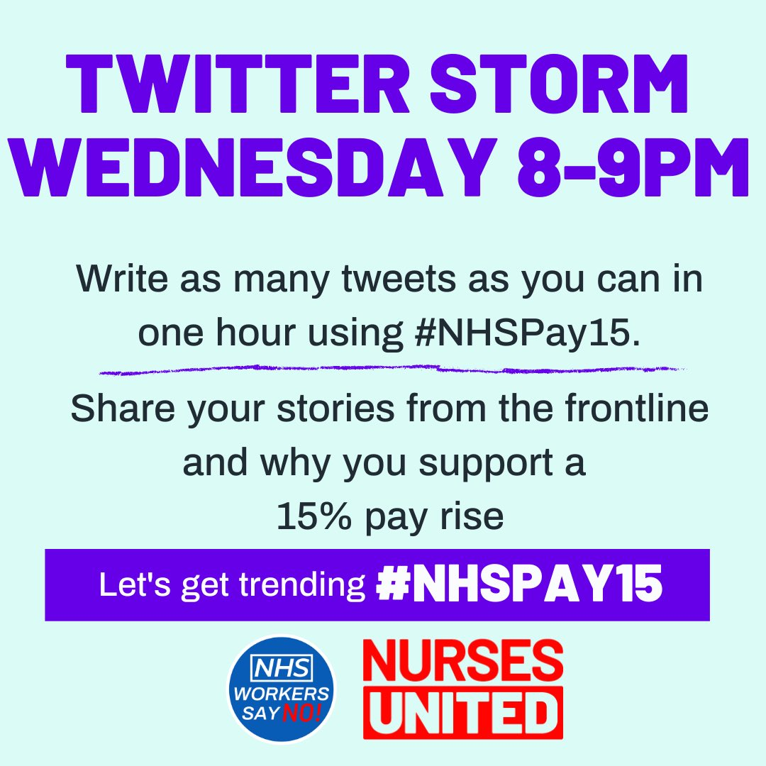 ⭐️ TONIGHT ⭐️   Show your support for the #NHSPay15 Campaign! https://t.co/jLKaxnt3ih