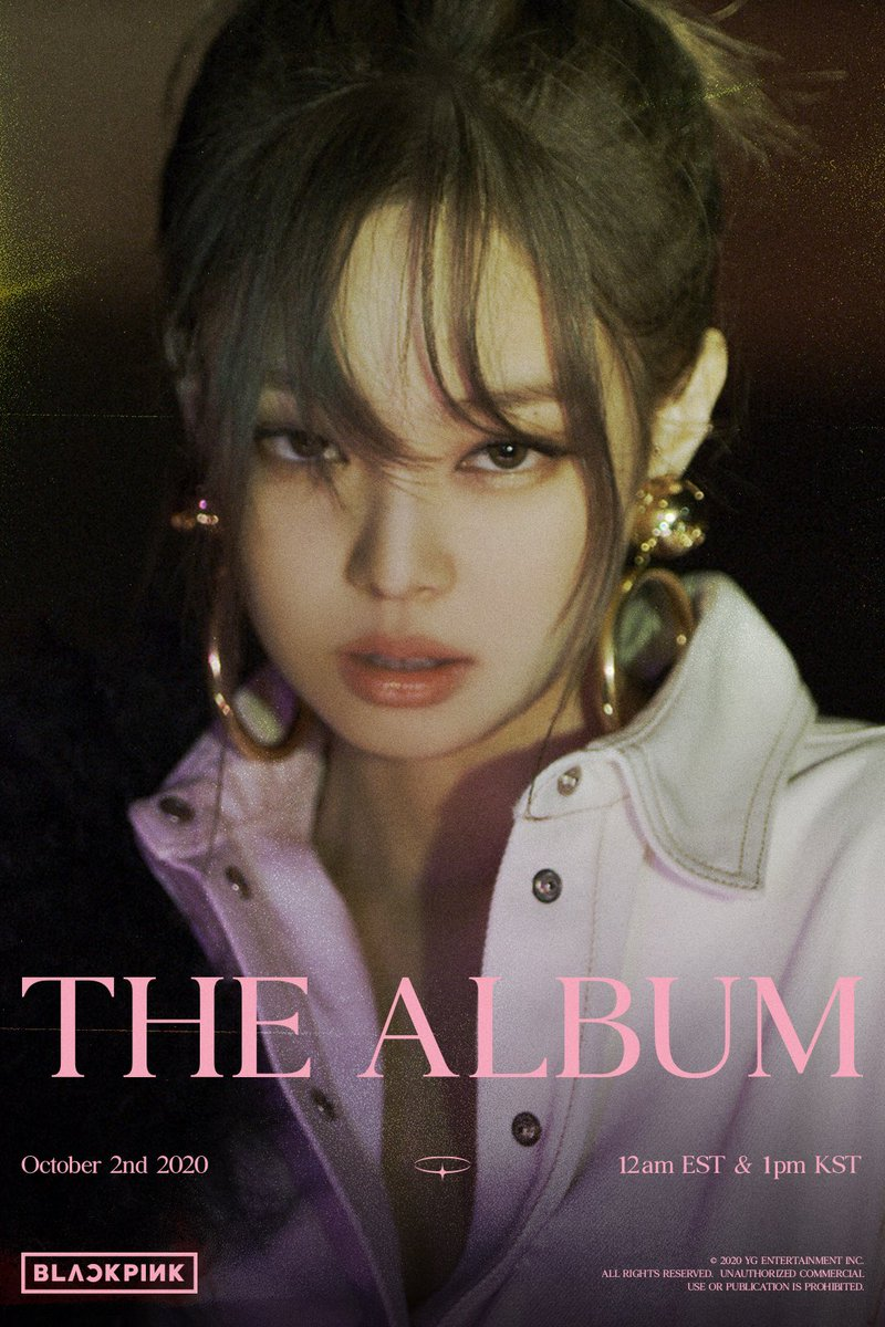 'THE ALBUM' JENNIE TEASER POSTER #2  #BLACKPINK  #블랙핑크  #JENNIE  #제니  #1stFULLALBUM #THEALBUM #TeaserPoster #20201002_12amEST #20201002_1pmKST #Release #YG https://t.co/LIq3T5SIOa