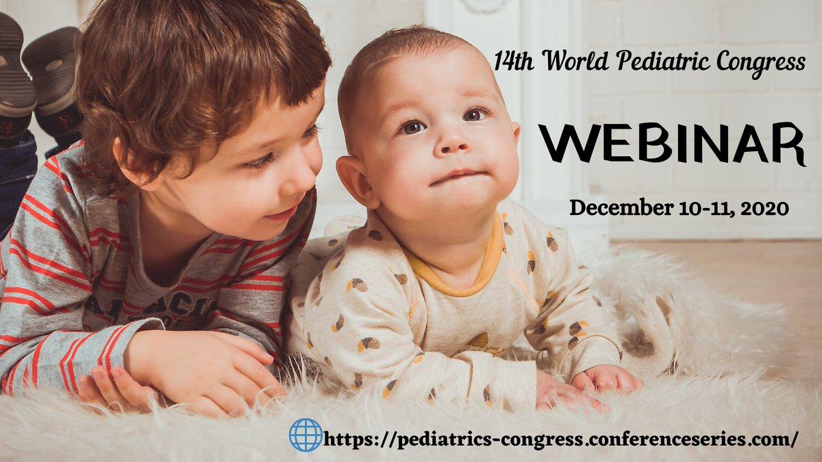 14th World #Pediatric Congress #December 10-11, 2020 #Webinar welcomes #Scientists #Professors #Delegates #Pediatricians #Doctors  #Neonatologists all over the #World #Neonatology #Pediatricdermatology #Pediatricendocrinology #Pediatricnutrition @WPC_2020 https://t.co/zfnvGvjzBf