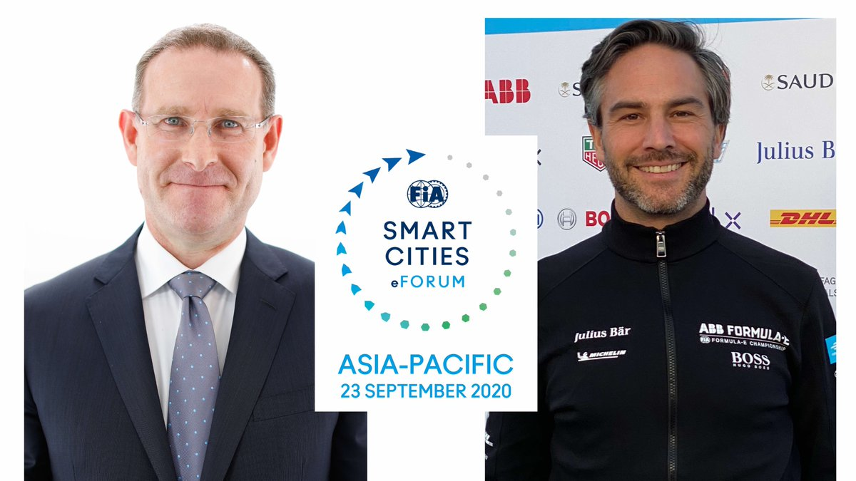 FIA Secretary General for Automobile Mobility and Tourism Andrew McKellar & @FIAFormulaE Holdings CEO Jamie Reigle are now giving the #FIASmartCities eForum - Asia-Pacific's opening remarks, highlighting the new approaches needed to address our new reality. #SustainableMobility https://t.co/Y07S7YYicP