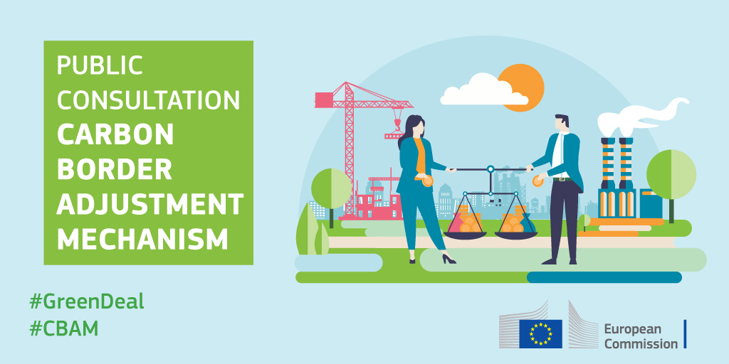 #GreenTaxation: The carbon border adjustment mechanism is coming. Want to have your say on how it should support EU's climate ambitions? Click here to join the public consultation.  🗓Deadline 28/10  👉https://t.co/vSnJtApn5N   #GreenDeal #CBAM https://t.co/dp3bNkxr4K
