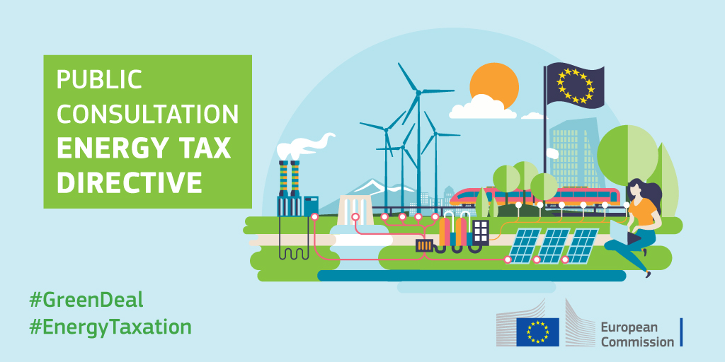 Revising the EU's #EnergyTaxation is one of the key reforms to make the EU climate-neutral by 2050. We want to hear your views on how to. Click here to join the public consultation.  🗓Deadline 14/10  👉https://t.co/41UttxIiHy   #GreenDeal #GreenTaxation https://t.co/m4xqsKOBTM