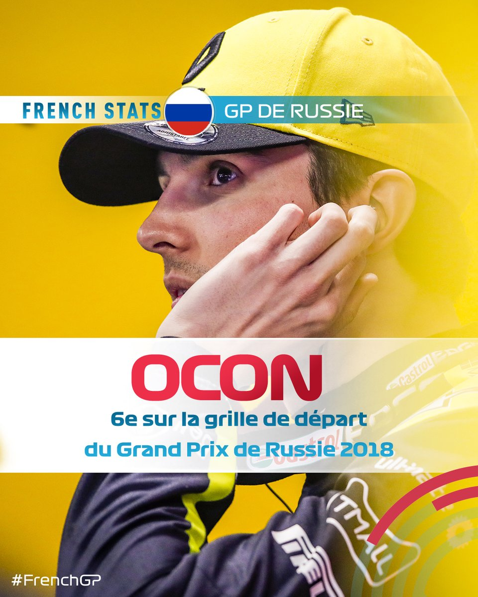 It's the #RussianGP 🇷🇺 this weekend! The best french performance on Qualy Day came in 2018 with @OconEsteban, who was 6th on the grid! Can he do better this weekend?  #RussianGP #FrenchGP #F1 #GPFranceF1 #Formula1 #EstebanOcon #FrenchDrivers https://t.co/QroNpw1SAt