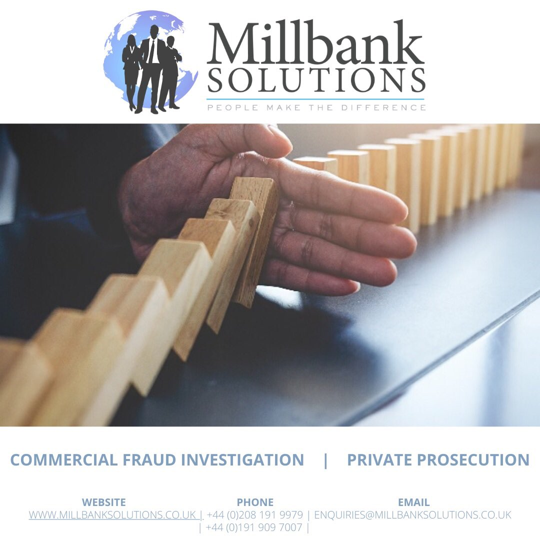If your company has become victim to #fraud and you are considering a #privateprosecution, speak to us about our complaint to #courtroom service.   We work with tried and trusted #lawyers in order to bring a swift resolution and to save you money on legal fees.   #investigations https://t.co/SyFZI8TDp5
