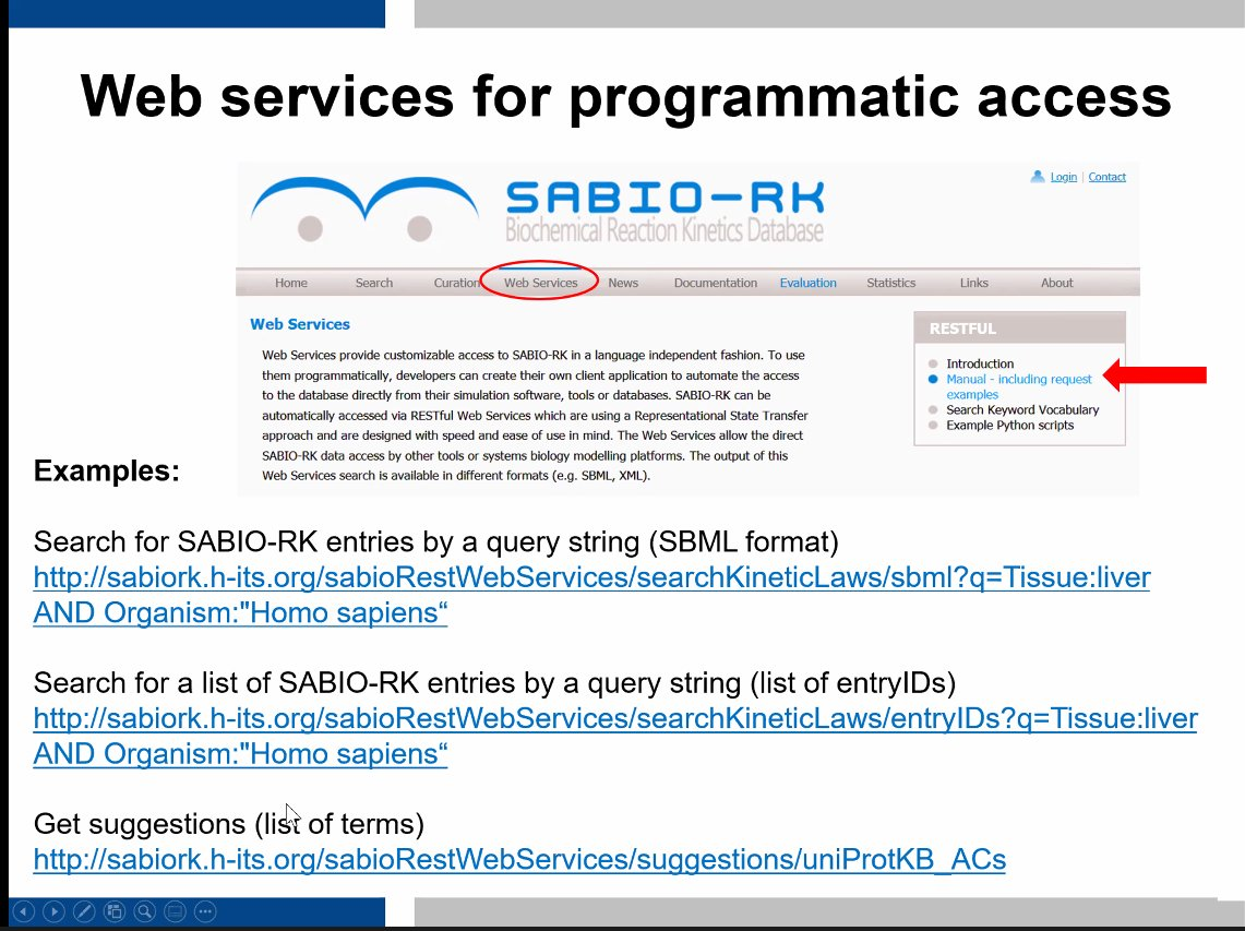 Last day of the @denbiOffice #Tools for #Systemsbiology #modeling and #data exchange #workshop starts with an introduction to #SABIORK - A database containing structured information about #biochemical #reactions and their corresponding #kinetics https://t.co/nEfIjdrjHz