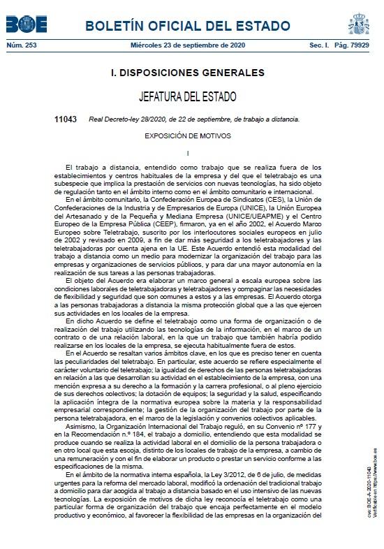 Real Decreto-ley 28/2020, de 22 de septiembre, por el que se regula el trabajo a distancia. https://t.co/SOxuLH9ZKs  #pymes #autonomos #asesorialaboral #asesoriafiscal #asesoriajuridica #empresas #asesorias #abogados #SiguemeYTeSigo #ERTE #Sanse #Alcobendas #felizmiercoles https://t.co/6uao45TlNt