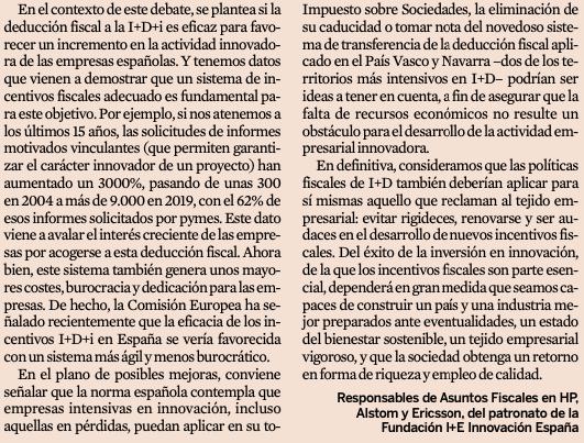 """📚 👀 Interesante artículo de Marta Moreno de Alboran, Pablo Navazo y Antonio Queizan sobre la """"Política fiscal de I+D"""" en Expansión. Haz #clic en las imágenes para #leer el artículo al completo 👇👇👇 https://t.co/BiW0qCmCyR"""