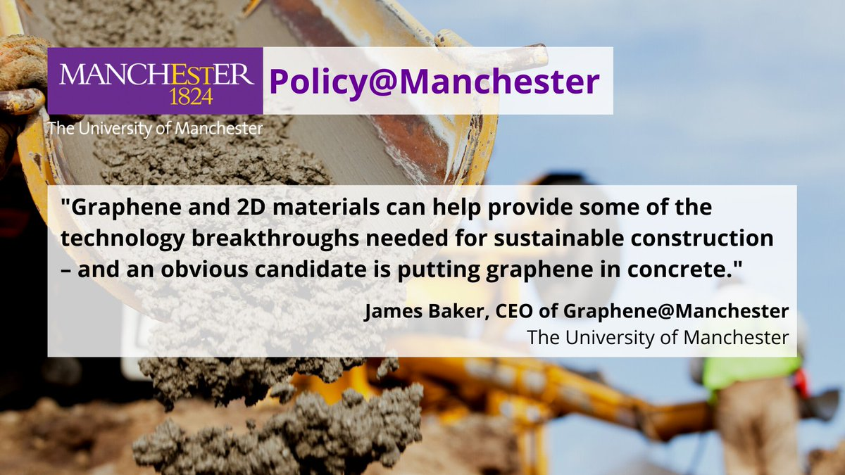 Ahead of his appearance at the @GMGreenCity #GMGreenSummit2020 later today, read this blog from @JamesHBaker1 from @UoMGraphene on how 2D materials can make the construction industry more sustainable.  Read and register for James' talk here; https://t.co/AudJGDXvSF https://t.co/NIFh3rO2nN