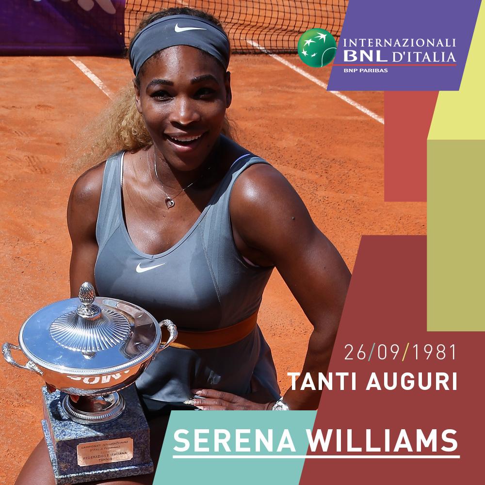 Quest'anno ci è mancata al Foro Italico ma speriamo di rivederla presto a Roma.  Buon compleanno Serena! 🎂 #IBI20 https://t.co/uh9Uk6iSYN