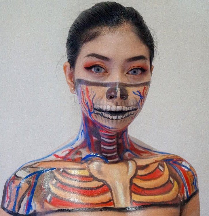 Human anatomy, inspired by Maddy Kennedy🔥 #thisismakeup #makeup #art #facepainting https://t.co/nF8xOA2StO