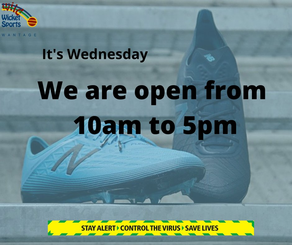 #wednesday #openinghours #backtonormal #newbalance #football #kidsfootball #stayalert #controlthevirus #savelives #shoplocal #wantage https://t.co/ZQrzPAMHO5