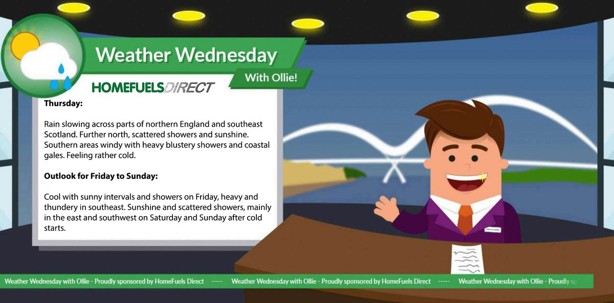 ☀️ Weather Wednesday! ☀️ Ollie here! Bringing you your weekly weather update! #HeatingOil #HomeFuelsDirect #WeatherWednesday https://t.co/qhZp7P6BRu