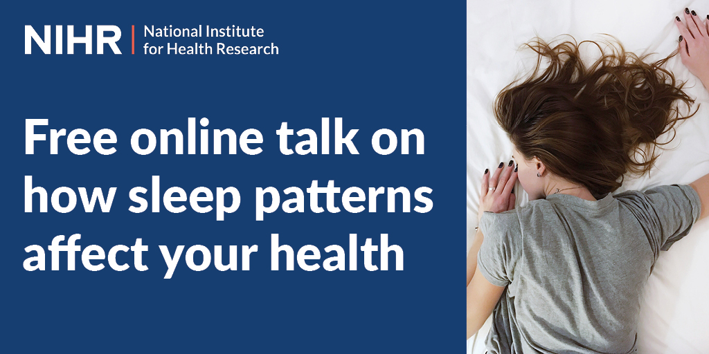 Watch a free online talk about how sleep patterns affect your health by Prof David Ray of @UniofOxford at 6pm on Monday 12 October. Read more and book now at https://t.co/wH1nAh5ye0 @Oxford_IF https://t.co/QTz64GcNAM